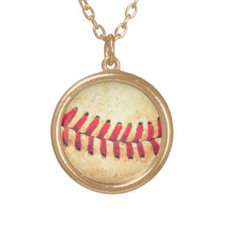 Vintage baseball ball personalized necklace