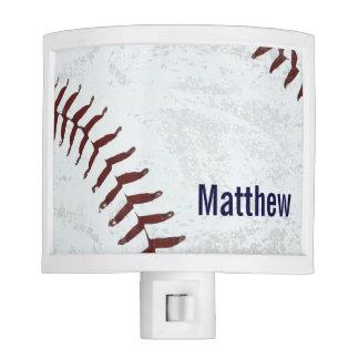 vintage baseball ball nite light