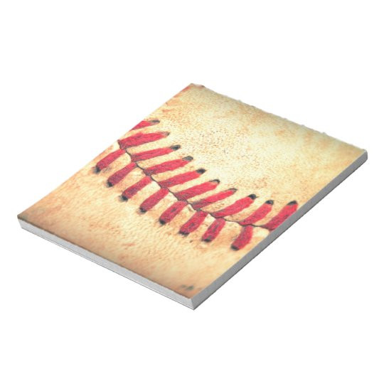 Vintage baseball ball notepad