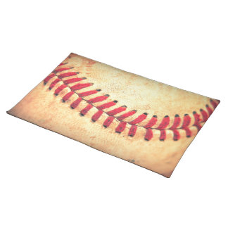 Vintage baseball ball placemat