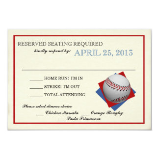Vintage Baseball Bar Mitzvah Reply Card
