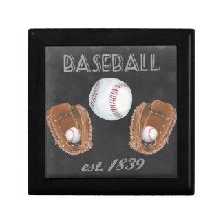 Vintage Baseball Chalkboard Design Gift Box