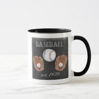 Vintage Baseball Chalkboard Design Mug