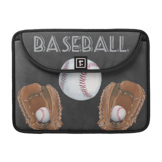 Vintage Baseball Chalkboard Design Sleeve For MacBooks