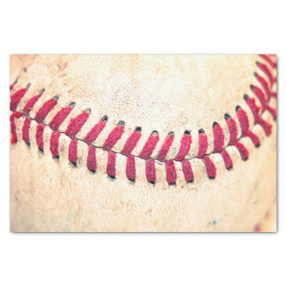 Vintage Baseball Close Up Photo Tissue Paper