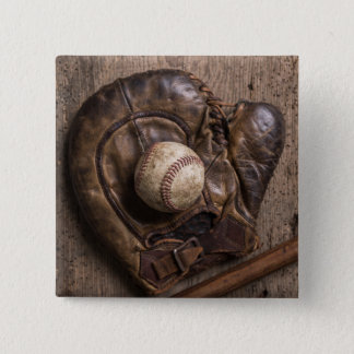 Vintage Baseball Equipment 2 Inch Square Button