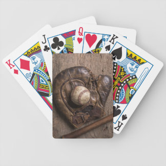 Vintage Baseball Equipment Bicycle Playing Cards