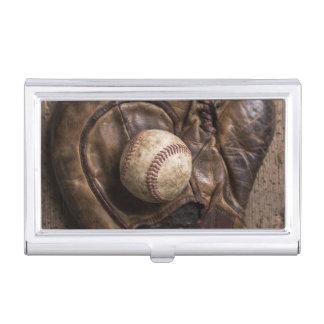 Vintage Baseball Equipment Business Card Holder