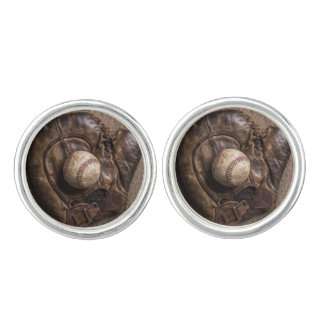 Vintage Baseball Equipment Cufflinks