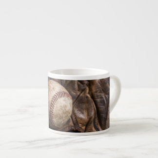 Vintage Baseball Equipment Espresso Cup