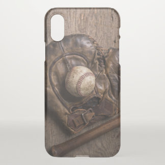 Vintage Baseball Equipment iPhone X Case