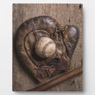 Vintage Baseball Equipment Plaque
