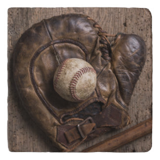 Vintage Baseball Equipment Trivet