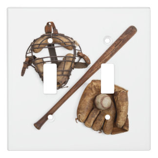 Vintage Baseball Light Switch Cover