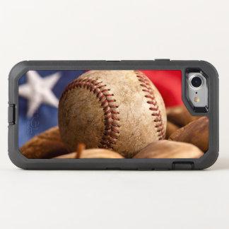 Vintage Baseball OtterBox Defender iPhone 8/7 Case