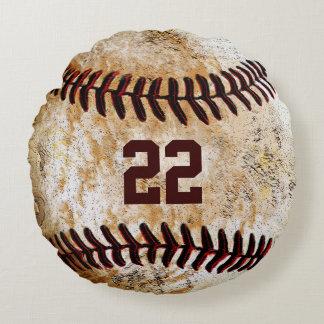 Vintage Baseball Pillows Name, Team Name, Number