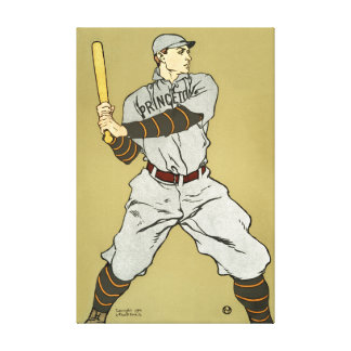 Vintage Baseball Poster Canvas Print