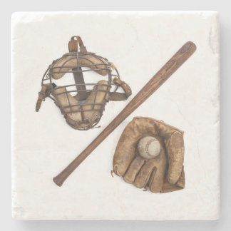 Vintage Baseball Stone Coaster