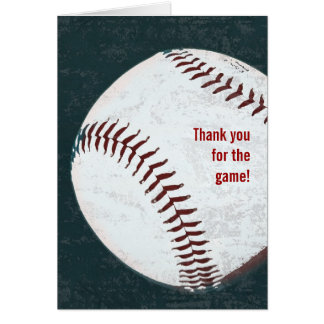Vintage baseball - thank you for the game card
