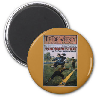 Vintage Baseball, Tip Top Weekly Magazine Cover 2 Inch Round Magnet