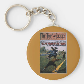Vintage Baseball, Tip Top Weekly Magazine Cover Basic Round Button Keychain