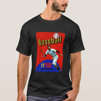Vintage Baseball Trading Card Wax Pack T-Shirt