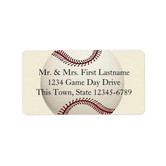 Vintage Baseball Wedding Label