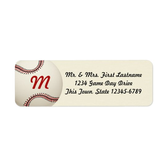 Vintage Baseball Wedding Return Address Label
