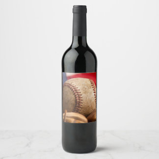 Vintage Baseball Wine Label