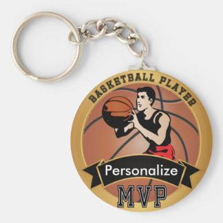 Vintage Basketball Sport   DIY Text Basic Round Button Keychain