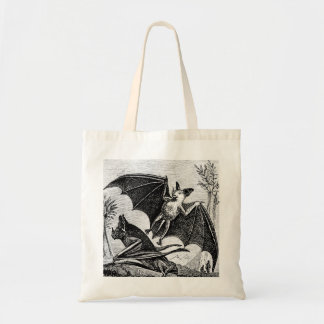 Vintage Bat Illustration Tote