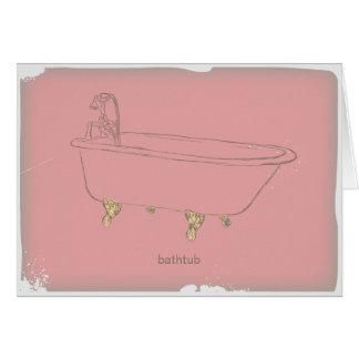 Vintage Bathtub -pink Card