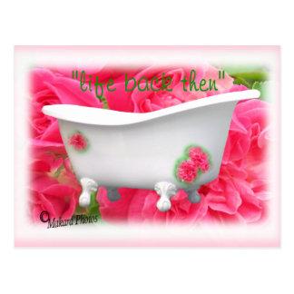 vintage bathtub postcard- customize postcard