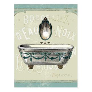 Vintage Bathtub with Mirror Postcard