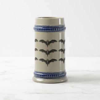 Vintage Bats Gothic Horror Punk Beer Stein