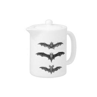 Vintage Bats Gothic Horror Teapot