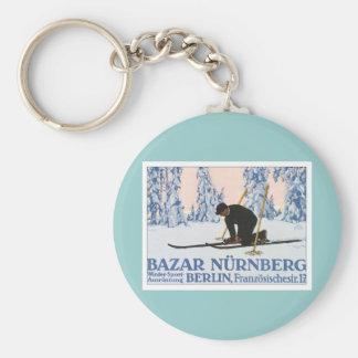 Vintage Bazar Nurnberg Basic Round Button Keychain