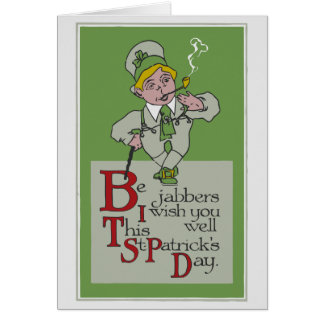 Vintage Be Jabbers St Patrick's Day Note Card