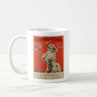Vintage - Be Kind to Animals Announcement, Coffee Mug