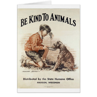 Vintage - Be Kind to Animals, Card