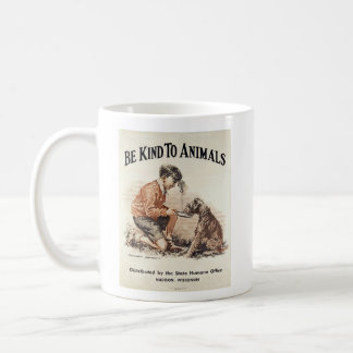 Vintage - Be Kind to Animals, Coffee Mug
