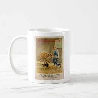 Vintage - Be Kind to Animals - Farm Animals, Coffee Mug