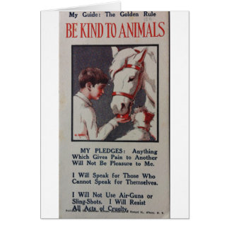 Vintage - Be Kind to Animals Pledge, Card