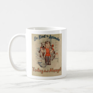 Vintage - Be Kind to Animals - Today & Always, Coffee Mug