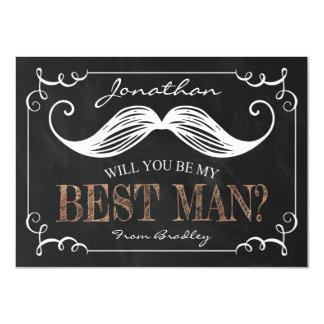 "VINTAGE BE MY BEST MAN | GROOMSMEN 4.5"" X 6.25"" INVITATION CARD"