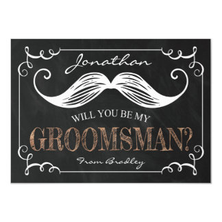 "VINTAGE BE MY GROOMSMEN | GROOMSMAN 4.5"" X 6.25"" INVITATION CARD"