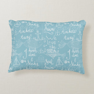 Vintage Beach Cottage Style Pillow