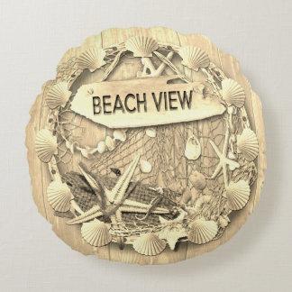 Vintage Beach Cushion - Beach View