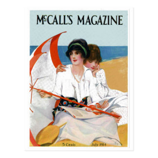Vintage Beach Magazine Cover Postcard
