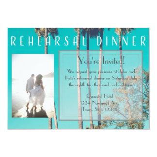 Vintage Beach Rehearsal Dinner Invitation